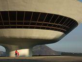 Oscar Niemeyer'S NiteróI Contemporary Art Museum, In Rio De Janeiro, Brazil