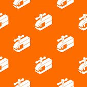 Clamping Machine Pattern Orange For Any Web Design Best poster