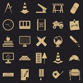 Range Icons Set. Simple Set Of 25 Range Icons For Web For Any Design poster