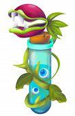 Fantasy Weird Monster Plant Carnivorous Flower. Flytrap Or Evil Fly Trap Dangerous Monster Plant Iso poster