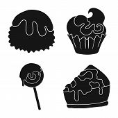 Isolated Object Of Sweetness And Product Logo. Collection Of Sweetness And Sweet Vector Icon For Sto poster