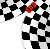 Formula one checkered background