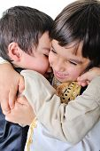 Two hugged brothers