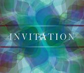 Invitation blue  card