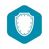 Army Protective Shield Icon. Simple Illustration Of Army Protective Shield Vector Icon For Web poster