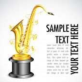 illustration of gold saxophone as music award