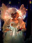 stock photo of christmas angel  - fiber optic light up statuette  - JPG