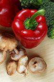Vegetables On Kitchen Table