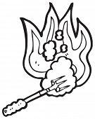 hot branding iron poster