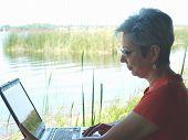 Older Woman on Laptop