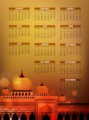 image of masjid nabawi  - Islamic Calender 2013 with Mosque or Masjid - JPG