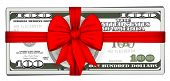 Pack of dollars tied with ribbon.vector