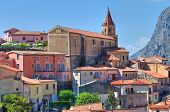 Panoramic view of Maratea. Basilicata. Southern Italy.