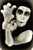 Portrait Of The Crazy Mime