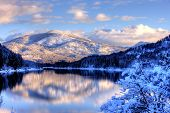 Snowy Mountain Landscape.
