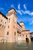 Moat And The Castle Estense In Ferrara