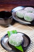pic of ube  - mochi or sticky rice balls filled with variety of flavors