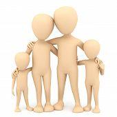 Family. 3D Image.
