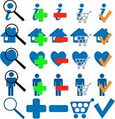 Find Buy Ok Add More Home Shopping Faves Icon Set