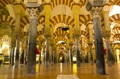 Interior Of Mosque,  Cordoba, Spain