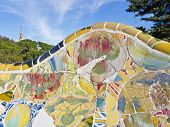 Antonio Gaudi Mosaiken im Park Güell