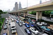 SHANGHAI, CHINA - MAY 30: Traffic jam during rush hours with busy commuters on May 30, 2012 in Shang
