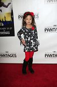 LOS ANGELES - JAN 15:  Aubrey Anderson Emmons arrives at the opening night of 'Peter Pan' at Pantage