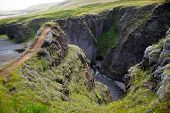 Fjathrargljufur Canyon, Iceland