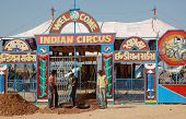 People Are Having Fun At Indian Circus ,traditional Camel Mela holiday,India