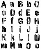 foto of png  - Zebra Print Animal Fur Alphabet Letters Available in PNG format with transparent background - JPG