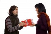 Couple Giving A Present