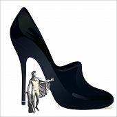 The God Apollo And Big Woman`s Shoe.eps