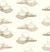 Seamless Abstract Hand-drawn Patternwith Maracas