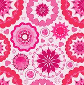 Flower seamless pattern background. Pink.