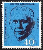 Postage Stamp Germany 1960 George C. Marshall