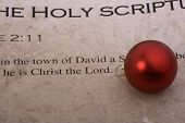 Christmas Bulb On Bible Scripture