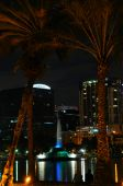Orlando's Lake Eola Fountain At Night