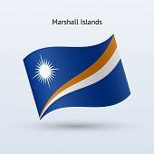 Marshall Islands flag waving form.