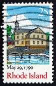 Postage Stamp Usa 1990 Rhode Island, Ratification Of The Constitution