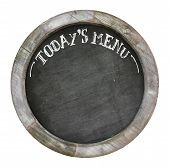 White Shabby Chic Wooden Picture Frame Chalkboard Blackboard Used As Today`s Menu