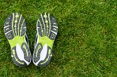 Sneakers Soles On Grass