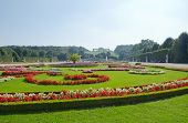 pic of sissi  - Gardens at Schonbrunn Palace Vienna in sunny day - JPG