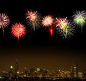 Skyline de Chicago à noite
