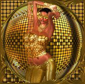 picture of hot pants  - Disco ball dance girl - JPG