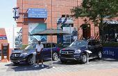 Mercedes- Benz cars at National Tennis Center during US Open 2013