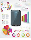 Modern Infographic With A Touch Screen Smartphone In The Middle.