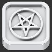 picture of pentagram  - Pentagram sign rounded square shape application icon - JPG