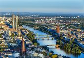 Aerial Of Frankfurt  With Ecb Building