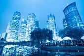 Night Scene Of Shanghai Central Green Land