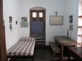 KOLKATA,INDIA - JAN 12: The former room of Mother Teresa at Mother House in Kolkata, West Bengal, In